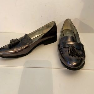 Kenneth Cole Reaction Jet Away 9 Metallic Loafers
